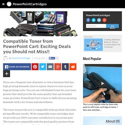 PowerPointCartridges - Compatible Toner from PowerPoint Cart: Exciting Deals you Should not Miss!!