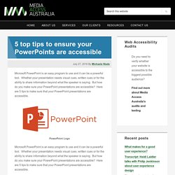 5 top tips to ensure your PowerPoints are accessible – Media Access Australia