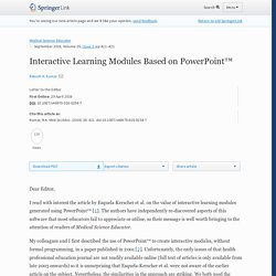 Interactive Learning Modules Based on PowerPoint™