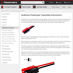 Help Center - Powerpole Assembly Instructions