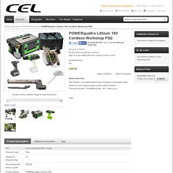 POWERquattro Lithium 18V Cordless Workshop PQ2 - POWER8workshop - CELwork