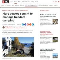 More powers sought to manage freedom camping