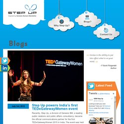 Step Up powers India's first TEDxGatewayWomen event