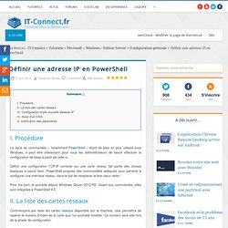 Définir une adresse IP en PowerShell