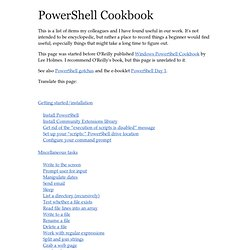 PowerShell Cookbook