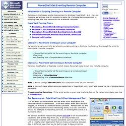 PowerShell Get-Eventlog Remote Computer