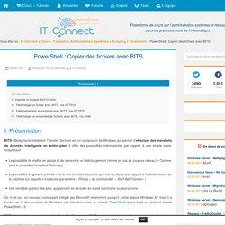 PowerShell : Copier des fichiers avec BITS