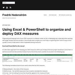 Using Excel & PowerShell to organize and deploy DAX measures – Fredrik Hedenström
