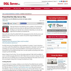 PowerShell content from SQL Server Pro