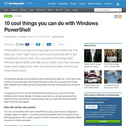 10 cool things you can do with Windows PowerShell