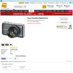 Canon PowerShot SX220 HS Gris - Appareil photo numérique compact à la Fnac