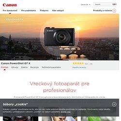 Canon PowerShot G7 X - Premium expert PowerShot digital compact cameras – Canon SK