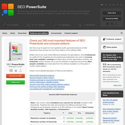 SEO PowerSuite software - features and editions