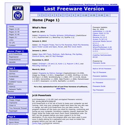 Last Freeware version: jv16 Powertools, RegCleaner, PowerArchiver, PopCorn