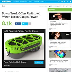 PowerTrekk Offers Unlimited Water-Based Gadget Power