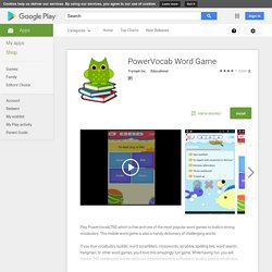 PowerVocab: Vocab Builder Game - Apps on Android Market