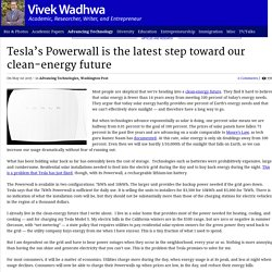 Tesla's Powerwall is the latest step toward our clean-energy future