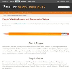 Poynter's Writing Process and Resources for Writers