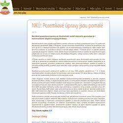 NKÚ: Pozemkové úpravy jsou pomalé : RokPudy.cz