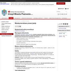bip.poznan.pl - Międzynarodowe prawo jazdy