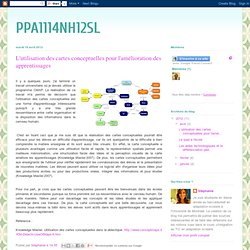 L'utilisation des cartes conceptuelles pour l'amélioration des apprentissages