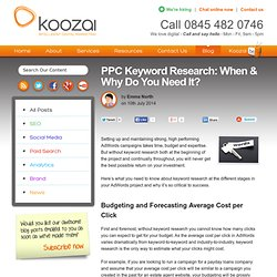 PPC Keyword Research: When & Why Do You Need It?