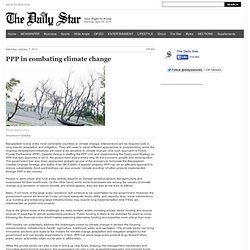 PPP in combating climate change