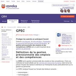 GPEC: Gestion pPrévisionnelle des Emplois et Compétences