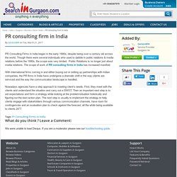 PR consulting firm in India
