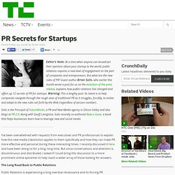 PR Secrets for Startups