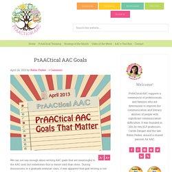 PrAACtical AAC Goals