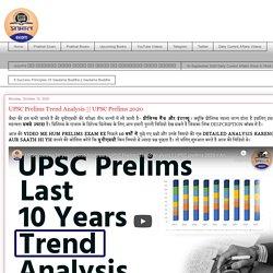 Prabhat Exam : UPSC Prelims Trend Analysis