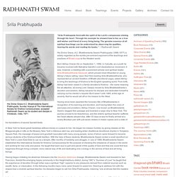 Radhanath Swami - Official website of author, spiritual leader, and social activist Radhanath Swami