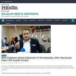 BPN Prabowo Minta Dokumen C1 ke Bawaslu, KPU: Harusnya Saksi TPS Sudah Punya