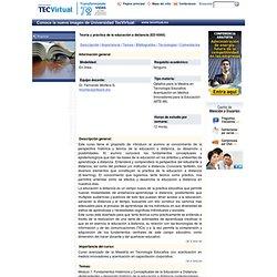 Teoría y práctica de la educación a distancia (ED-5060)