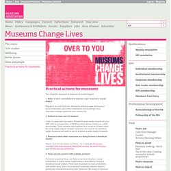 Practical actions for museums