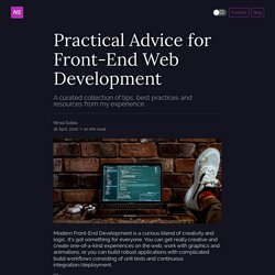 Practical Advice for Front-End Web Development