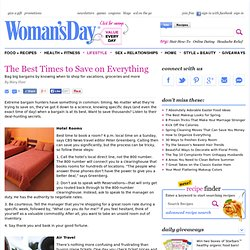 Practical Money Saving Tips - Best Time to Buy Airline Tickets and More at WomansDay.com