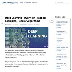 Deep Learning - Overview, Practical Examples, Popular Algorithms