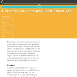 A Practical Guide to AngularJS Directives