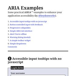 Practical ARIA Examples