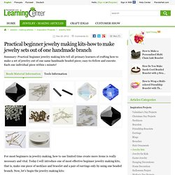 Practical beginner jewelry making kits-how to make jewelry sets out of one handmade branch