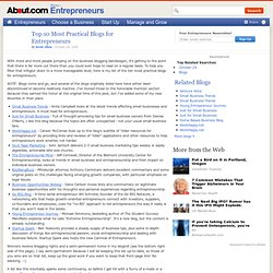 Top 10 Most Practical Blogs for Entrepreneurs