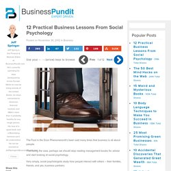 12 Practical Business Lessons From Social Psychology