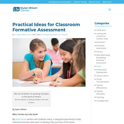 Practical Ideas for Classroom Formative Assessment