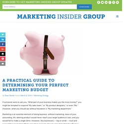 A Practical Guide To Determining Your Perfect Marketing Budget