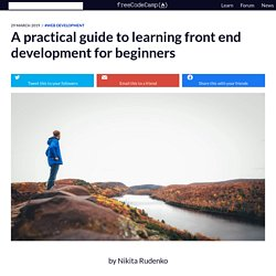A practical guide to learning front end development for beginners