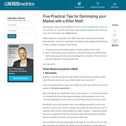 Five Practical Tips for Dominating your Market with a Killer Motif