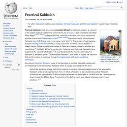 Practical Kabbalah