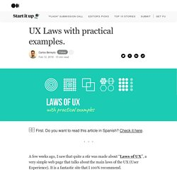 UX Laws with practical examples.. The collection of laws or design…